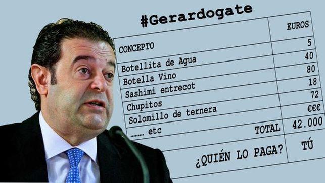 Las facturas de las comidas de Gerardo Camps