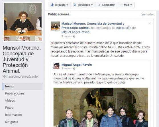 Facebook de Marisol La Roja