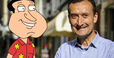 Parecidos razonables Carlos González y Quagmire