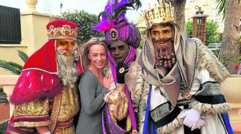 Visita de los Reyes Magos a Sonia Castedo