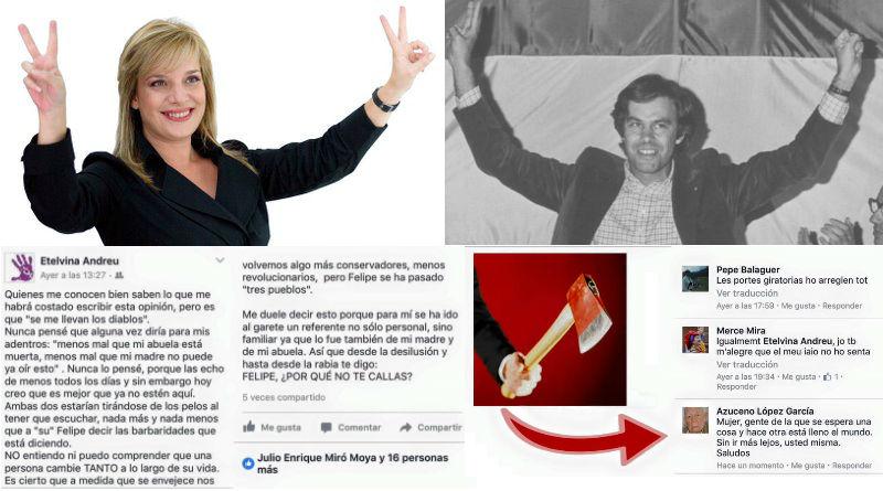 Etelvina Andreu carga contra Felipe González en Facebook