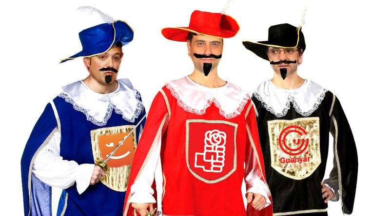El tripartito de Alicante como los tres mosqueteros