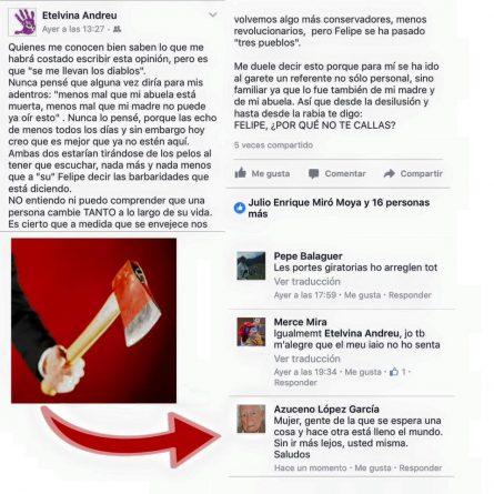 Etelvina Andreu en Facebook