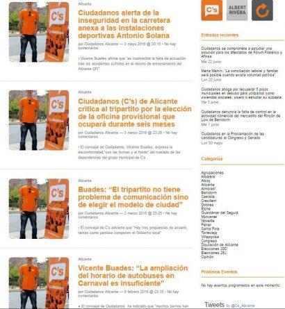 Vicente Buades en la web de Ciudadanos Alicante