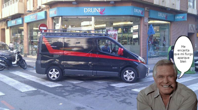 Multada en Alicante la furgoneta del Equipo A