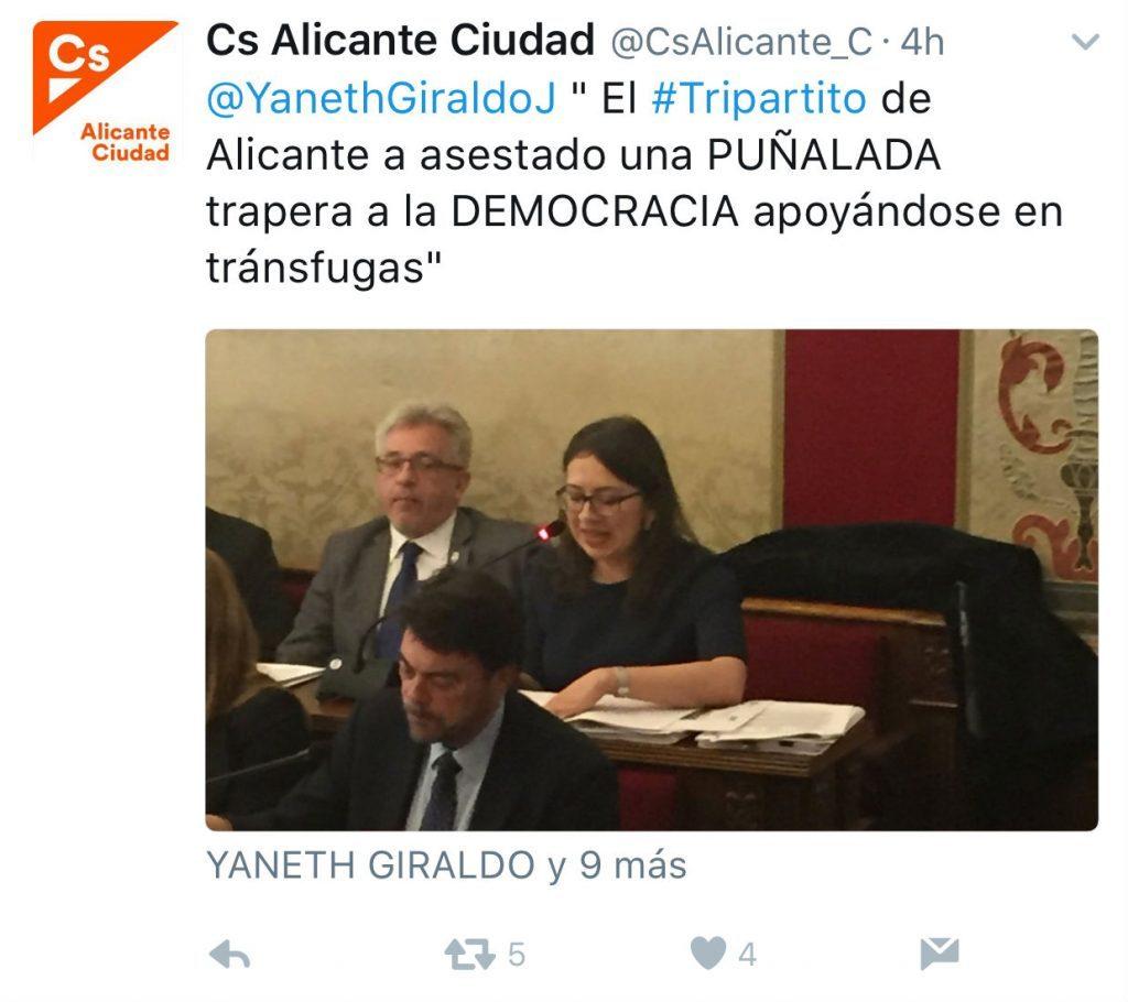 La mala ortografía de Ciudadanos Alicante