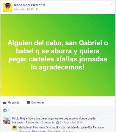 petición para pegar carteles en Alicante