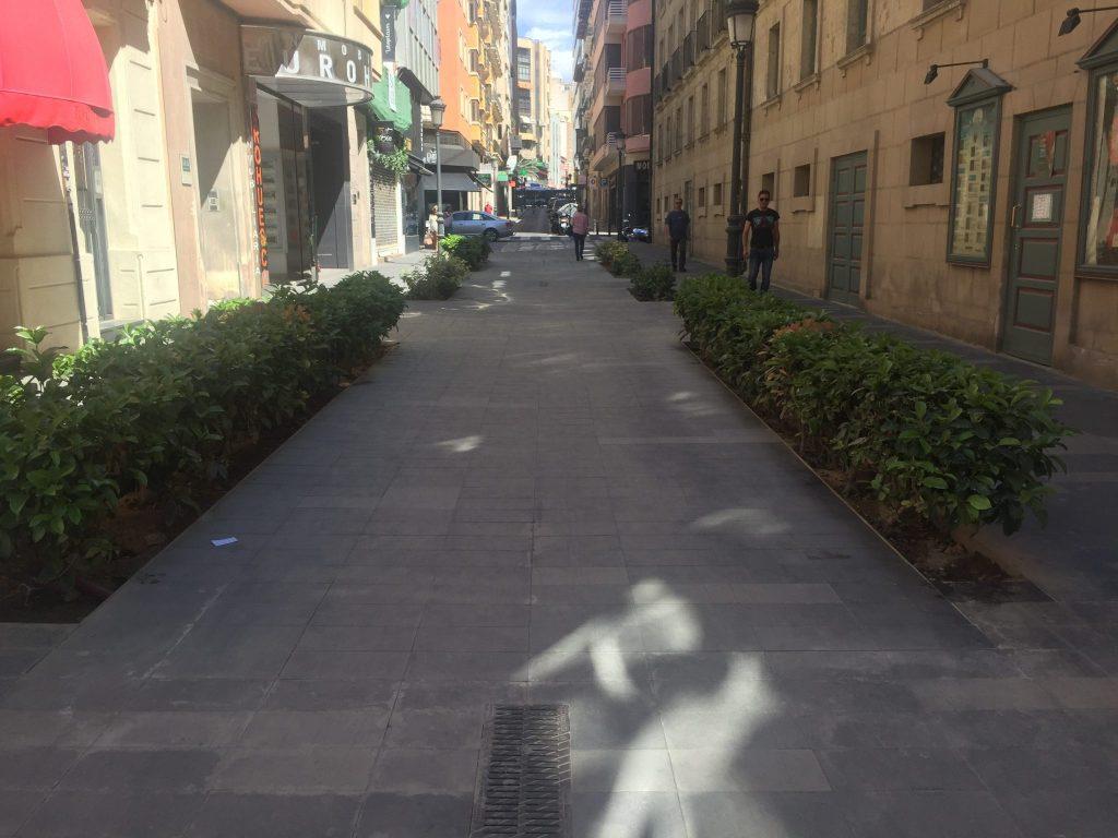 La calle Castaños sin cagódromo
