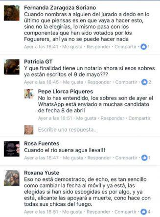 Un presentador de Información TV acusa al jurado de la Bellea del Foc de filtrar la lista de ganadoras por Whatsapp días antes