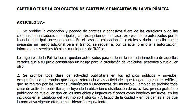 Normativa municipal de limpieza en Alicante