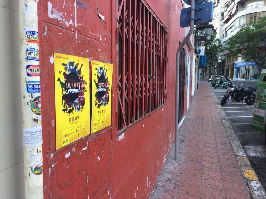 Alicante llena de carteles