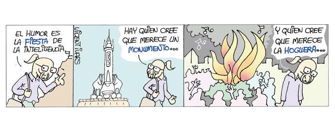 Viñeta de Vicent Ivars en el Diario INFORMACIÓN sobre la censura a Viscalacant
