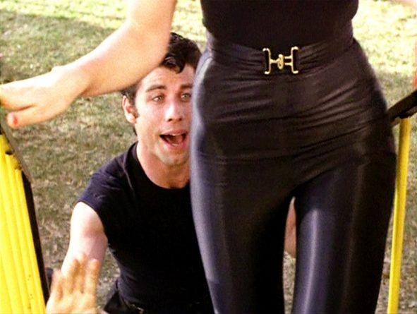 Leggins de Olivia Newton John en Grease