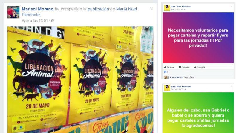 Marisol Moreno carteles animalistas