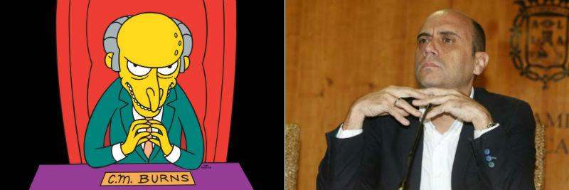 Gabriel Echávarri como el señor Burns