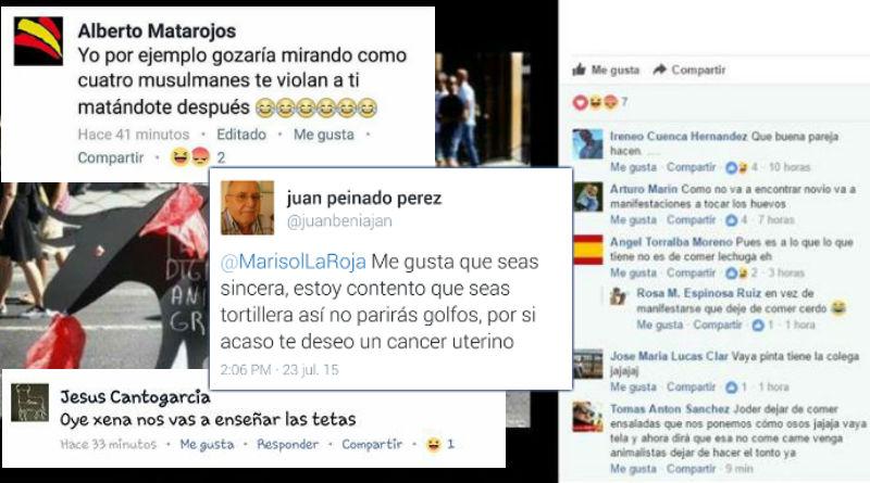 Energúmenos en las redes sociales: ¡Policía, Guardia Civil, miren esto!
