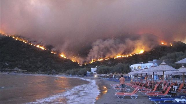 los fuegos de la playa