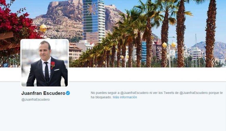 Juanfran Escudero bloquea a Viscalacant en Twitter