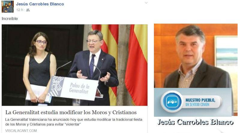 Jesús Carrobles Blanco, concejal de Benidorm, manipula o se deja manipular