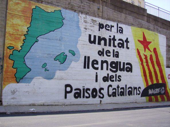 Un mural sobre els Països Catalans