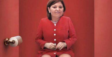 Isabel Bonig, en la primera imagen donde aparece sin Eva Ortiz