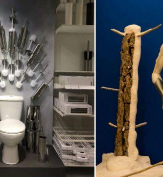 El trono de hierro visto por Ikea y el caminante blanco de la muestra de Canción de Fuego y Hielo en Alicante