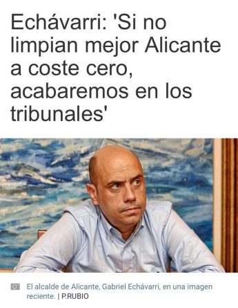 Echávarri amenaza con llevar a los tribunales a la contrata de basura de Alicante