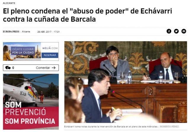 Echávarri, acusado de abuso de poder