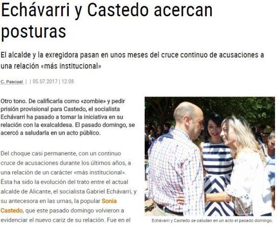 Echávarri y Castedo ahora hasta se llevan bien