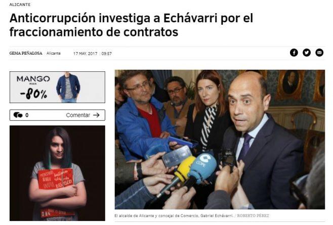 Echávarri, investigado por presunto fraccionamiento de contratos