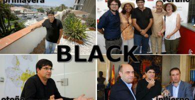 Miguel Ángel Pavón, modelo de la marca de moda Black por vestir siempre de negro