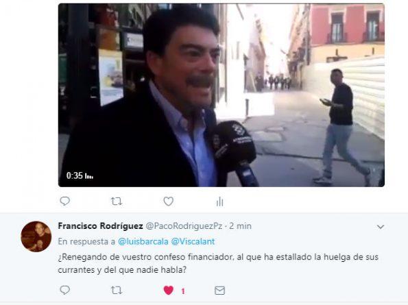 Cruce de mensajes en Twitter entre Luis Barcala y Viscalacant