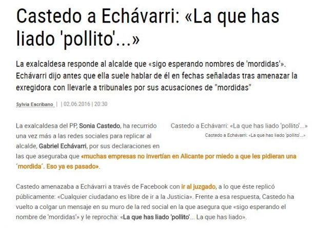 "Castedo llama a Echávarri ""pollito"""
