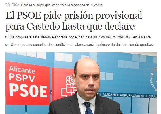 Echávarri pide prisión provisional para Castedo