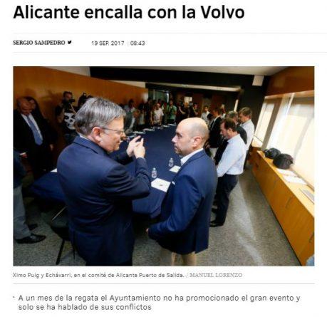 Echávarri incumple la promesa de actos mensuales para promocionar la Volvo Ocean Race
