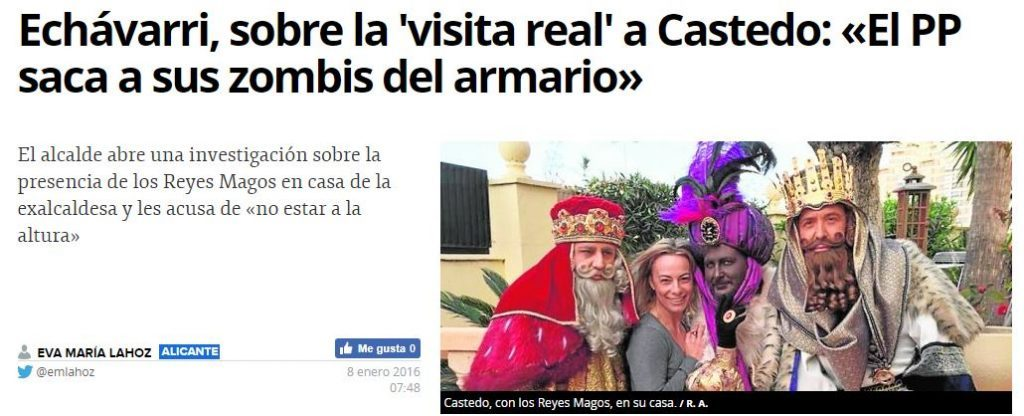 "Echávarri llama ""zombi del PP"" a Castedo"