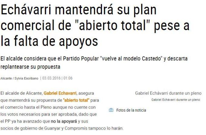 """El """"abierto total"""" de Echávarri"""