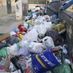 Una imagen de la huelga de basuras de 2014 en Alicante