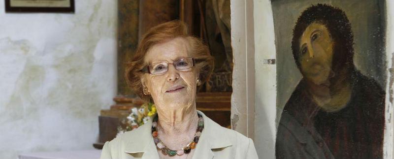 Cecilia Giménez restaurará el retrato podrido del Rey