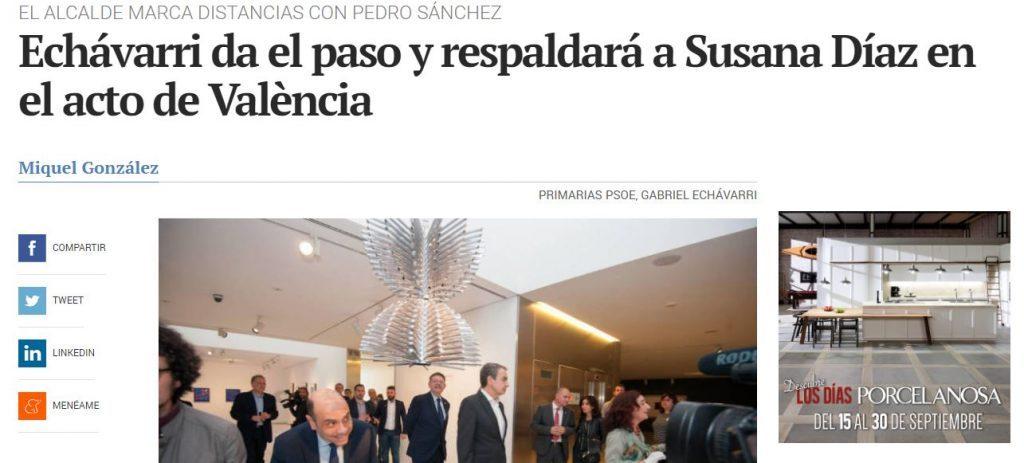 Echávarri traiciona a Pedro Sánchez