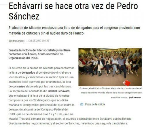 Echávarri se hace amigo de nuevo de Pedro Sánchez