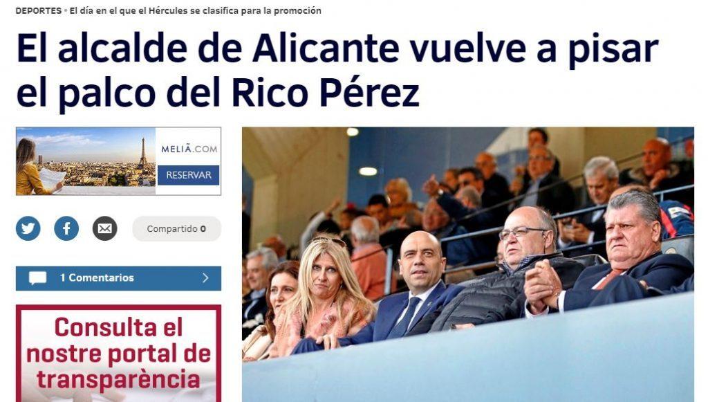 """Echávarri se sienta en el palco junto al """"aficionado del Elche"""" Ramírez"""