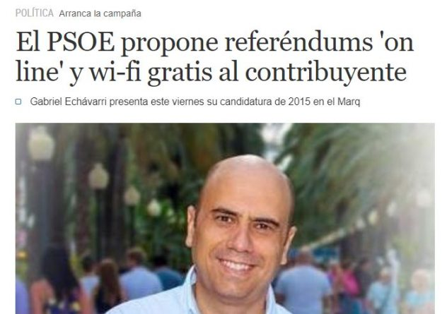 Echávarri promete tener en cuenta la participación vecinal con referéndums online