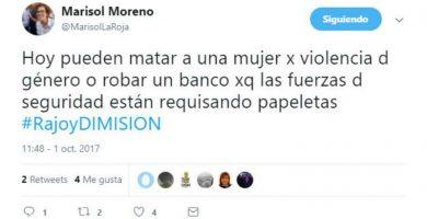 Marisol Moreno frivoliza en Twitter sobre los asesinatos machistas