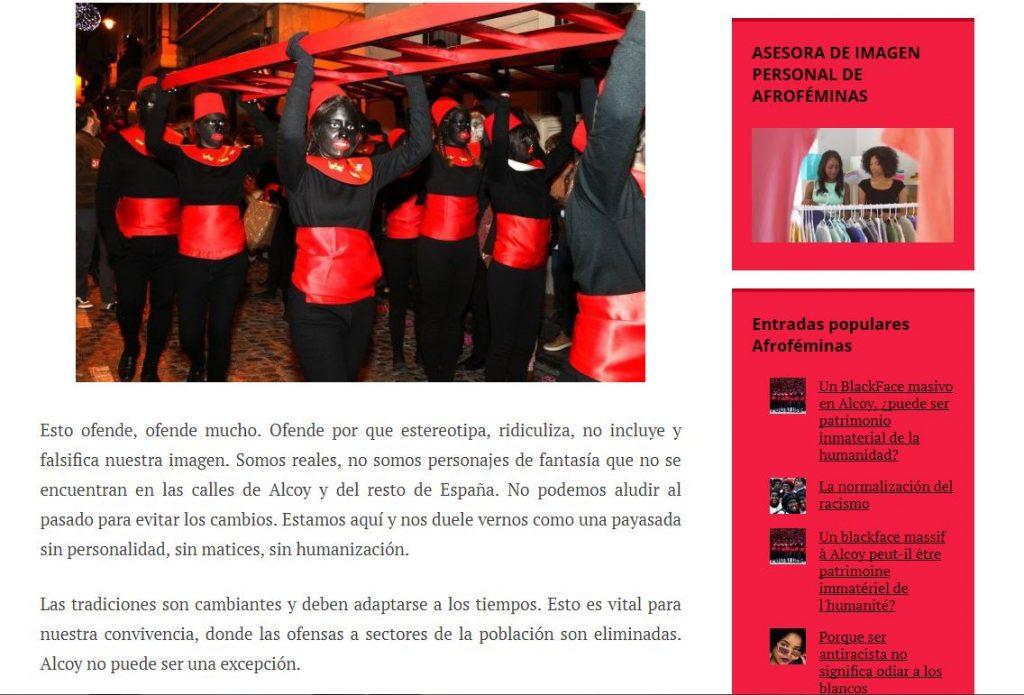 Rita Bosaho Afroféminas pajes negros cabalgata Reyes Magos Alcoi