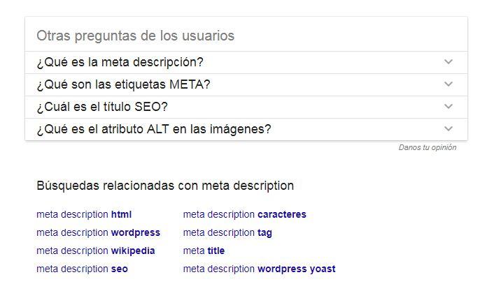 Otras preguntas de los usuarios, novedad en las SERPs de Google