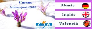 CURSOS FEBRERO-JUNIO 2018 DEL CONSELL DE LA JOVENTUT D'ALACANT