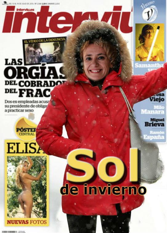 Sol Picó se viste en Interviú