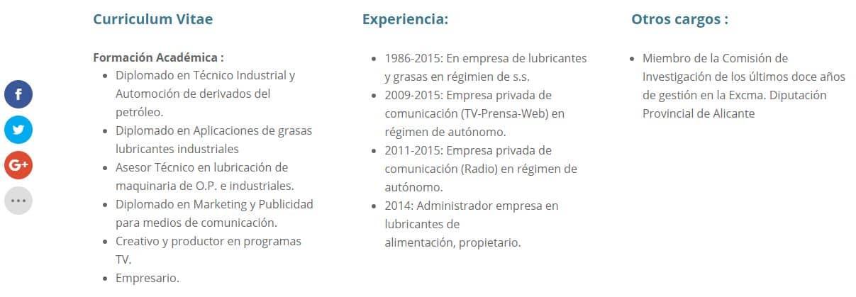 Curriculum vitae Fernando Sepulcre