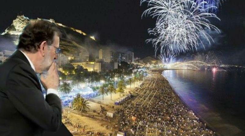 Rajoy en los fuegos artificiales del Postiguet